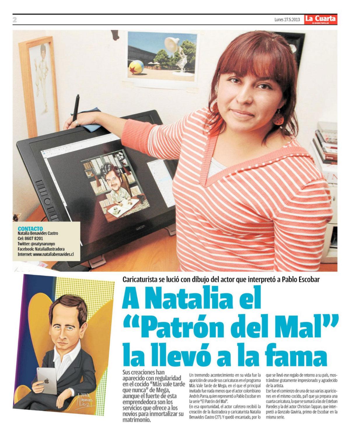 Mi primera entrevista, y para el diario La Cuarta! | Natalia ...